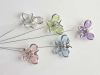 Butterfly pick rosa/silver x6st